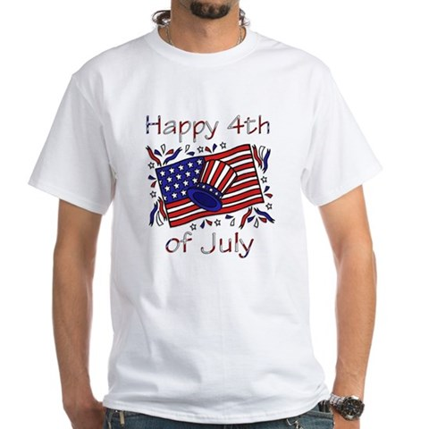 Product Image of 4th of July Celebration White T-Shirt