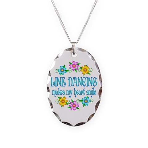 Line Dancing Smiles  Hobbies Necklace Oval Charm by CafePress