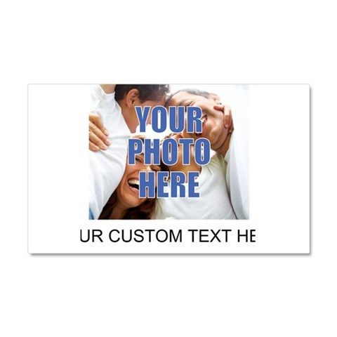 Custom Photo and Text  Humor Car Magnet 20 x 12 by CafePress