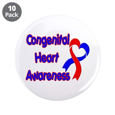Congenital Heart Defect  Health 3.5 Button 10 pack by CafePress