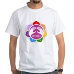 Men's Lotus Reiki Classic White T-Shirt