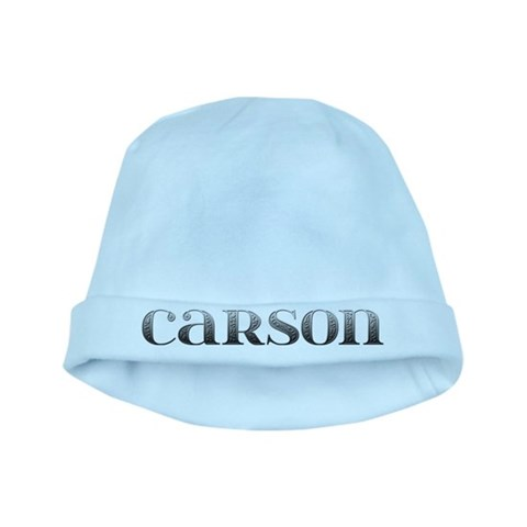 Carson Carved Metal  Carson baby hat by CafePress