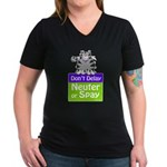 Don't Delay (Cat) - Neuter or Women's V-Neck Dark