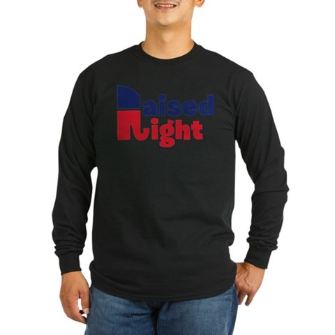 Product Image of Raised Right Long Sleeve Dark T-Shirt