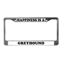Greyhound License Plate Frames