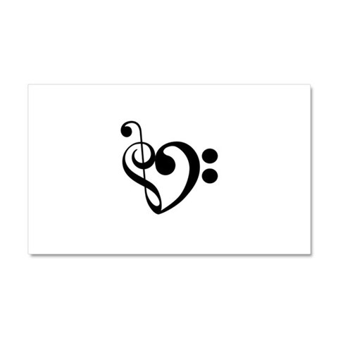 Musical Heart  Funny Car Magnet 20 x 12 by CafePress