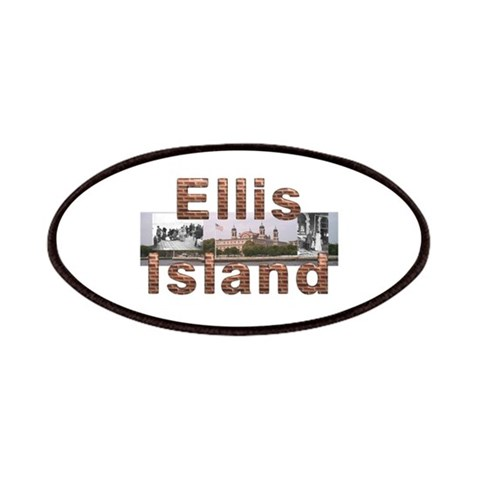 ABH Ellis Island  New york Patches by CafePress