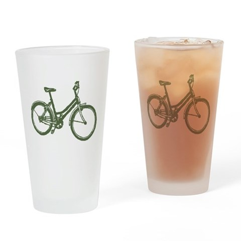 Bicycle  Sports Drinking Glass by CafePress