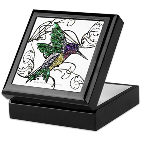 Gem Hummingbird  Animals Keepsake Box by CafePress