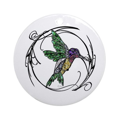 Gem Hummingbird Ornament Round Animals Round Ornament by CafePress
