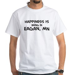 Happiness is Eagan White T-Shirt