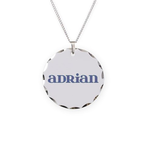 Adrian Carved Metal  Cupsreviewcomplete Necklace Circle Charm by CafePress