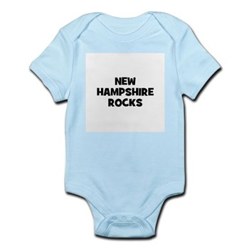 NEW HAMPSHIRE  ROCKS Infant Creeper