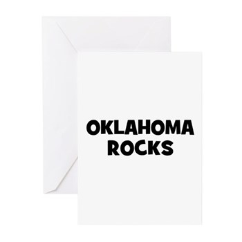 OKLAHOMA  ROCKS Greeting Cards (6)