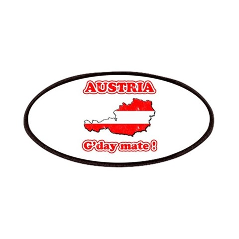 Austria - g'day mate  Humor Patches by CafePress