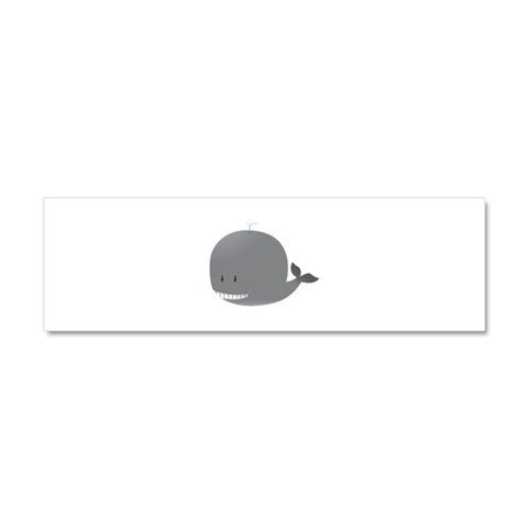 cool whale Funny Car Magnet 10 x 3 by CafePress
