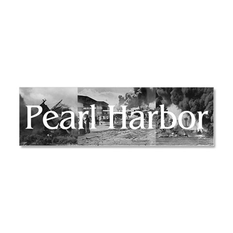 ABH Pearl Harbor  Military Car Magnet 10 x 3 by CafePress