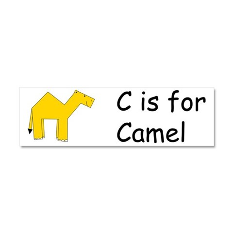 C is for Camel  Camel Car Magnet 10 x 3 by CafePress