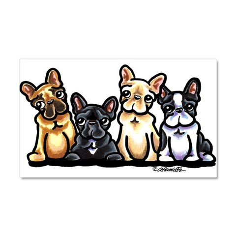 Funny French Bulldog  Cupsreviewcomplete Car Magnet 20 x 12 by CafePress