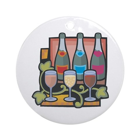 Wine Lovers Ornament Round Hobbies Round Ornament by CafePress