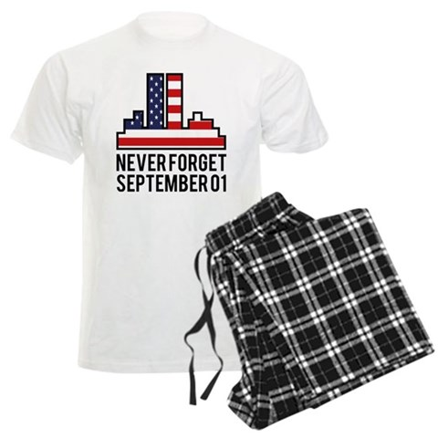 9 11 Never Forget  New york Men's Light Pajamas by CafePress