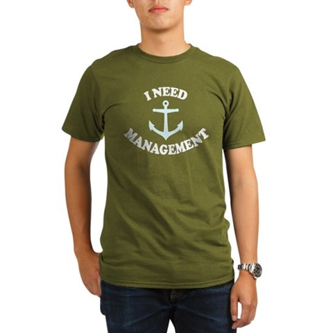 'Anchor Management'  Funny Organic Men's T-Shirt dark by CafePress