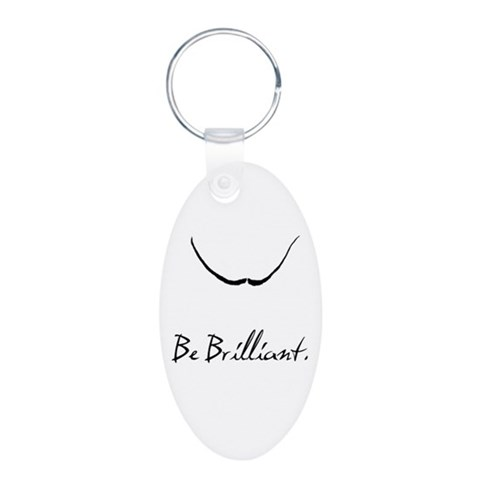 Dali, Be Brilliant,  Art Aluminum Oval Keychain by CafePress