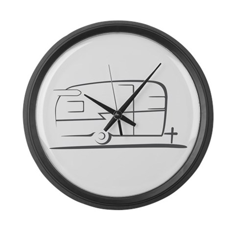 Airstream Silhouette  Vintage Large Wall Clock by CafePress