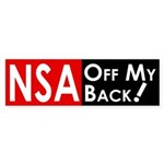 NSA Off My Back! (bumper sticker)