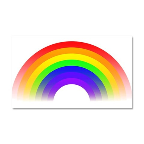 Fading Rainbow Graphic  Cool Car Magnet 20 x 12 by CafePress