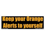 Orange Alert Bumper Sticker