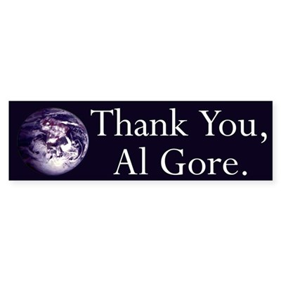 Thank You, Al Gore (bumper sticker)