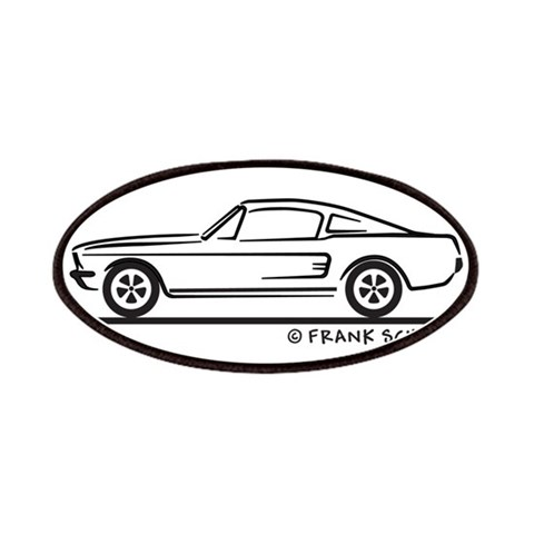 1968 Mustang Fastback  Hobbies Patches by CafePress