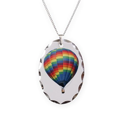 Helaine's Hot Air Balloon 8  Hobbies Necklace Oval Charm by CafePress