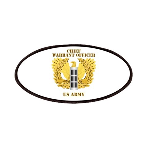 Army - Emblem - Warrant Officer CW3  Military Patches by CafePress