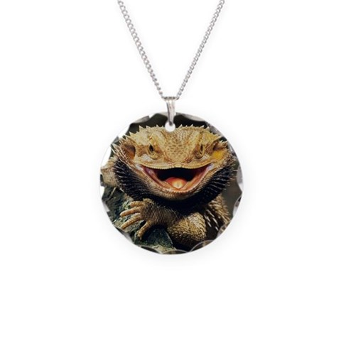 Bearded Dragon  Pets Necklace Circle Charm by CafePress