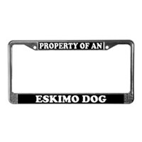 American Eskimo Dog License Plate Frames