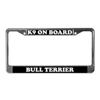 Bull Terrier License Plate Frames