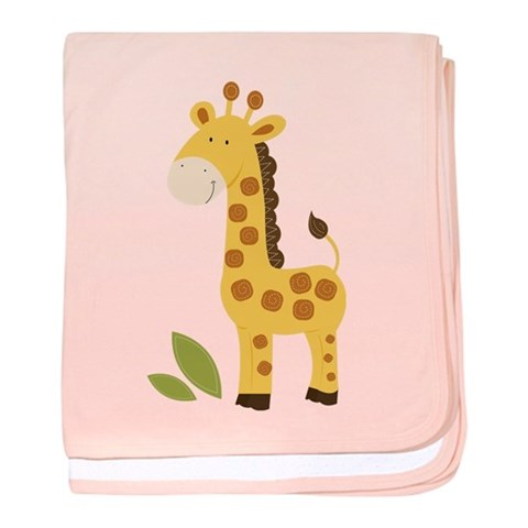 Cute Giraffe  Cute baby blanket by CafePress