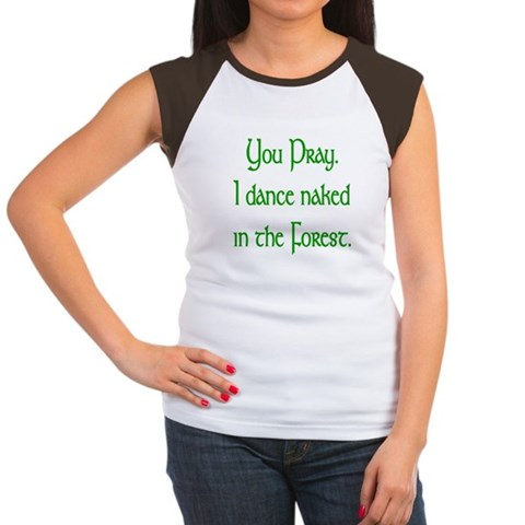 Naked Pagan  Dance Women's Cap Sleeve T-Shirt by CafePress