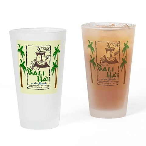 Bali Hai at the Beach  New orleans Drinking Glass by CafePress