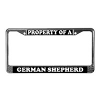 German Shepherd License Plate Frames