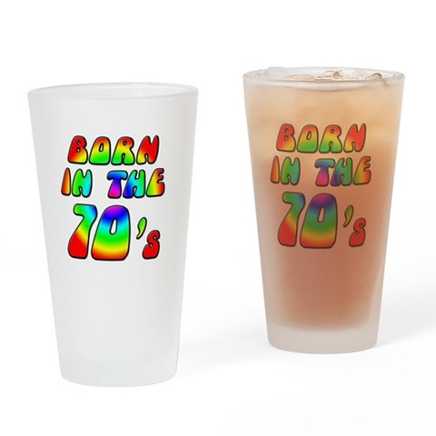 1970's, 70s  30th birthday Drinking Glass by CafePress