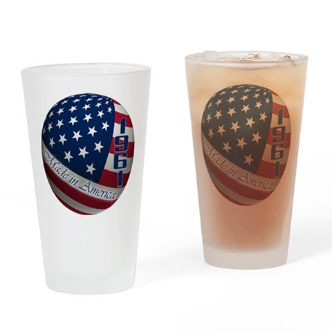 1961, Made In America, 50th  50th birthday Drinking Glass by CafePress