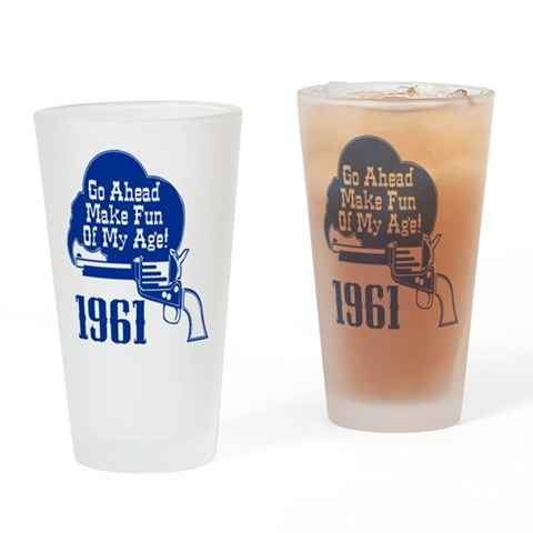 50th Birthday  Cupsthermosreviewcomplete Drinking Glass by CafePress