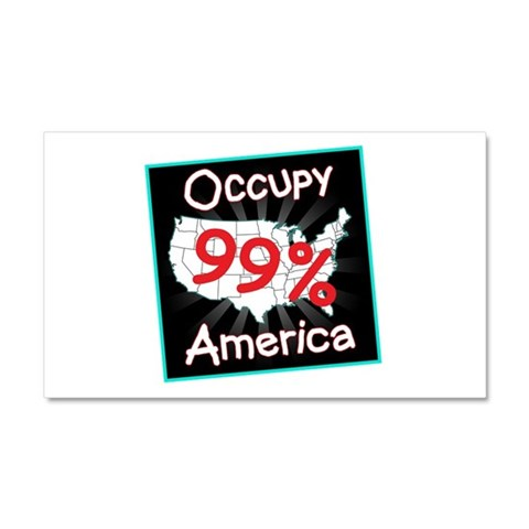 occupy america 99  Peace Car Magnet 20 x 12 by CafePress