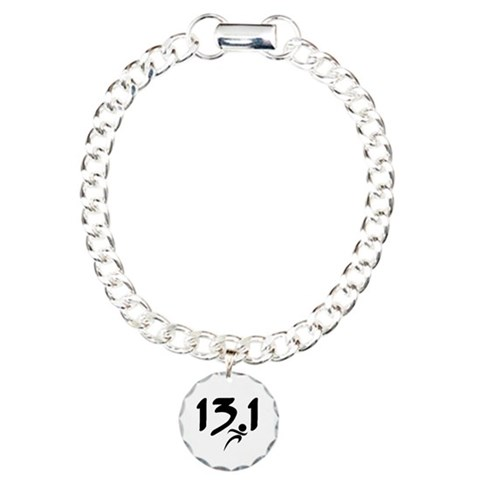 13.1 run  Sports Charm Bracelet, One Charm by CafePress