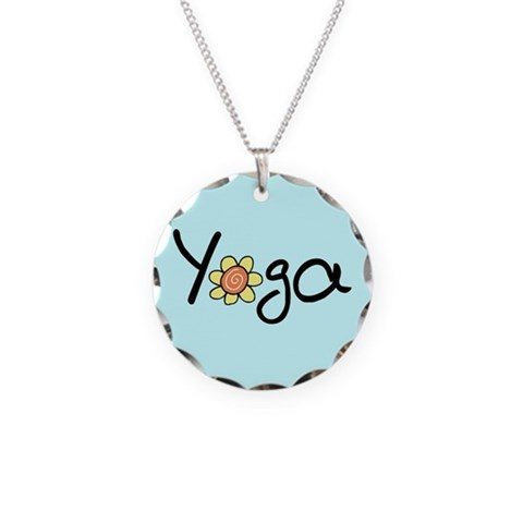Yoga  Hobbies Necklace Circle Charm by CafePress