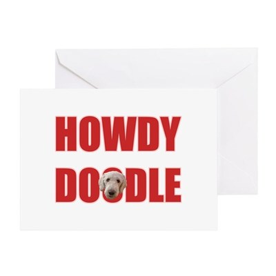 Howdy Labradoodle Greeting Card