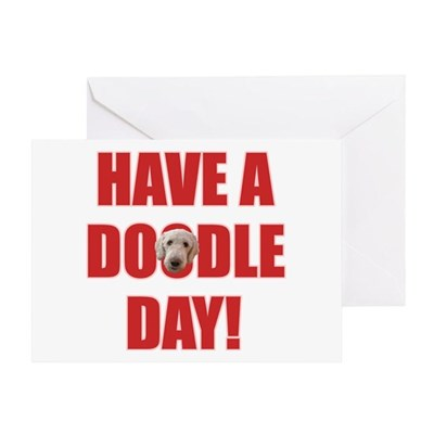 Doodle Day Labradoodle Greeting Card